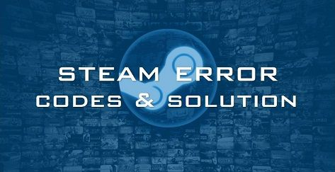 steam error codes