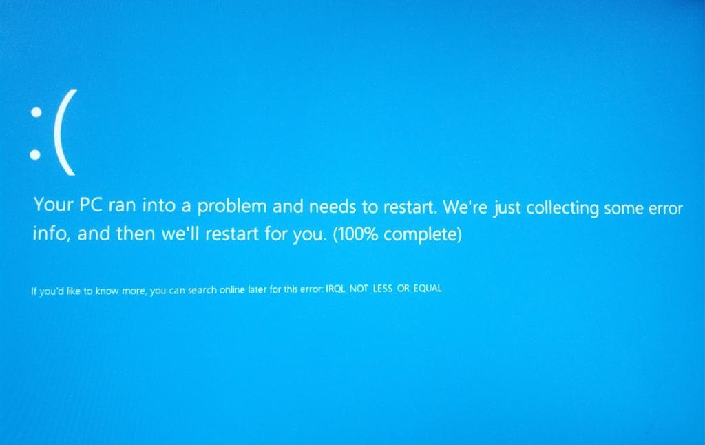 windows blue screen error