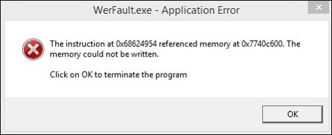 how to fix WerFault.exe application error