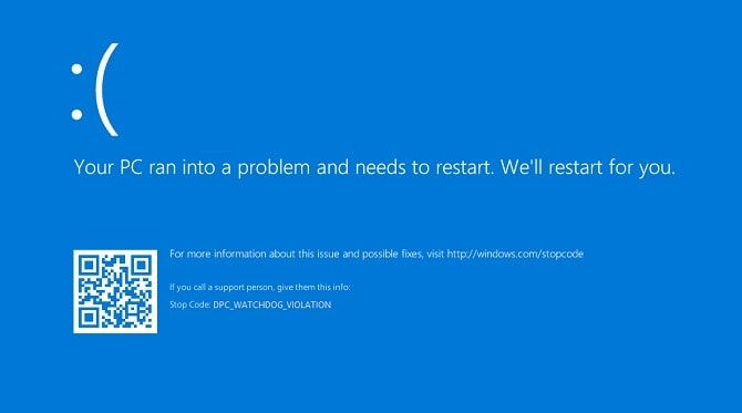 Dpc Watchdog Violation BSOD