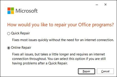 fix office 0xc0000142