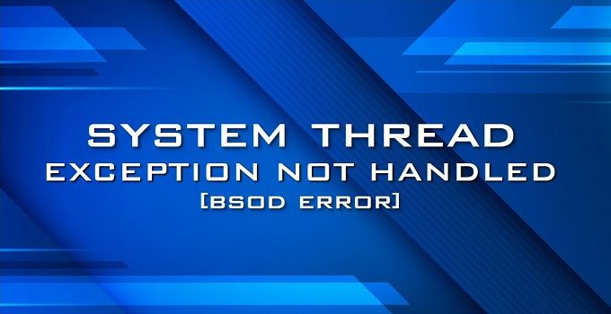 fix system thread exception not handled