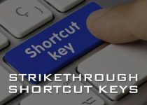 Strikethrough Shortcut