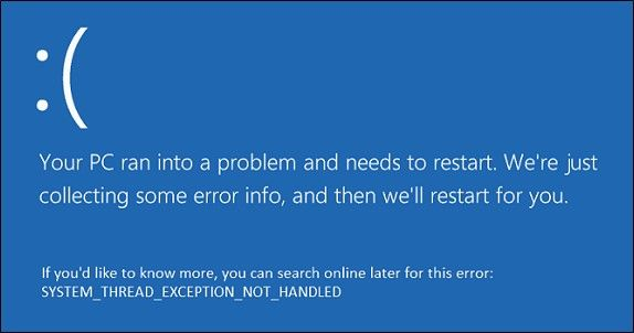 System Thread Exception BSOD